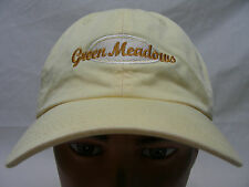 GREEN MEADOWS - GOLF - EMBROIDERED - ADJUSTABLE BALL CAP HAT