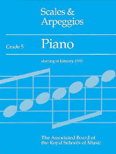 Scales and Arpeggios for Piano Grade 5 ABRSM Sheet Music Book Exam Prep S04