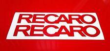 Recaro Sticker 8 x 120mm Stickers Decals Racing Car Motorbike Rally Sponsors