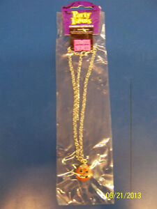 Halloween Carnival Birthday Party Favor Jewelry Silver Charm Necklace - Pumpkin