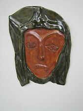 Madonna MASK handmade ceramic porcelain clay decor by NC artist Helen Seebold