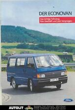 1985 Ford Germany Econovan Van Truck Brochure ws2979-M4DFAL
