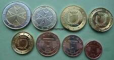 Malta KMS alle 8 Euro Münzen 2016 mit 1 Cent bis 2 Euro Euromünzen coins moedas