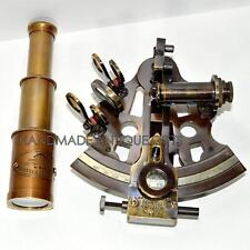 NAUTICAL MARITIME ~ BRASS SEXTANT ~ SEXTANT ASTROLABE 5''W/TELESCOPE
