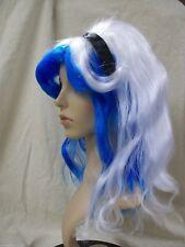 2 Tone Blue White Alice Wig Headband Ribbon Edgy in Wonderland Wicked Fairy tale