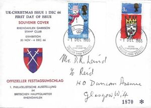 GB :1966 Christmas set First Day Cover -BFPO cancel