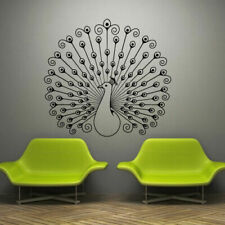 Wall Decal Sticker Vinyl Decor Peacock Bird Beauty Tail Feather Bedroom M930