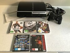 Sony PS3 PlayStation Console (faulty) with 2 X controllers & 5 Games