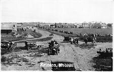 F43/ Ericson Nebraska RPPC Postcard c1920s Town View Crowd Automobiles