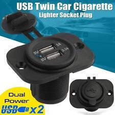 Doble USB 12V/24V Dual Power Moto Barco Coche Encendedor de Cigarrillos Herramienta UK