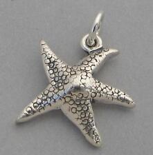 Sterling Silver Charm Pendant STAR FISH Starfish Nautical Ocean Beach 4688