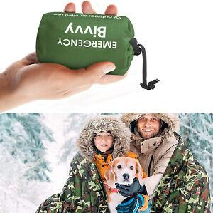 Emergency Survival Tent Blanket Sleeping Bag Reflective Shelter Camping BivvyBag