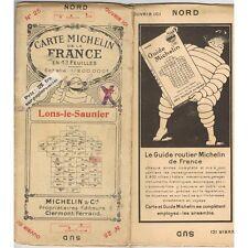 CARTE Michelin N°25 LONS-LE-SAUNIER Bern Poligny Pontarlier Signau Cuiseaux 1923