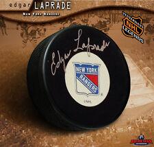 EDGAR LAPRADE Signed New York Rangers Puck