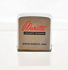 Vintage Zippo Tape Measure for Marietta Concrete Division Martin-Marietta Corp.