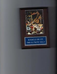 MIRACLE ON ICE PLAQUE HOCKEY USA 1980 OLYMPIC GOLD MEDAL US