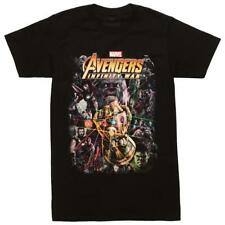 Marvel Avengers Infinity War T'shirt Thanos Black Tee
