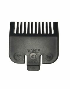 """Wahl Standard Fitting Hair Clipper Attachment Comb Size No.1 Black  3mm 1/8"""""""