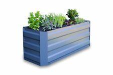 Greenlife Slimline Galvanised Metal Raised Garden Bed Planter Slate Grey 124545