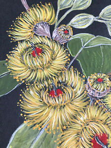 Australian Gum Blossoms   Ronnie K  Best Quality  Framed & Ready to Hang