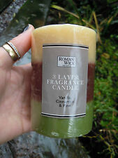Scented Pillar Church Candle 3 layer fragrance candle vanilla,cinnamon & pine