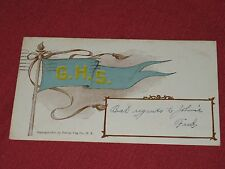 1907 Foreman Flag Co. College Flag Series - G.H.S. Postcard Posted EXC