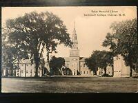 Vintage Postcard>1940>Baker Memorial Library>Dartmouth College>Hanover>N.H.