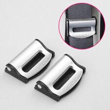 Vehicle Interior Seat Safety Belt Clip Stopper Adjust Buckle Parts Silver