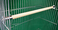"""2 x 24mm natural wood perches,anti chew ends Parrot cage 16""""-42"""""""