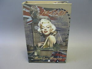 Vintage Libro con Scatola Regalo Portagioie 27 CM X 18 CM