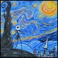 VAN GOGH x Emi Boz art pop surrealism goth Jack Skellington STARRY NIGHTMARE