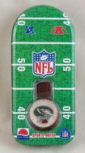 Philadelphia Eagles Watch Sun Time NFL Sports 1995 Vintage Mens, New in Tin