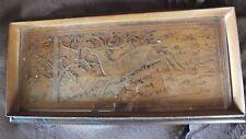 plateau en bois décor cerf