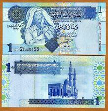 Libya, 1 Dinar, ND (2004), P-68, UNC > Gaddafi