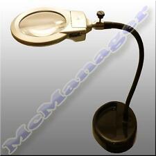 Adjustable Desktop Illuminated  Metalhose Magnifier With LED Lights