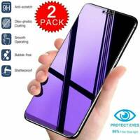 For iPhone 11 Pro Max XS X 8 7 Anti Blue Light Tempered Glass Screen Protector