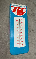 "Vintage RC Cola Royal Crown Thermometer 26 Inches Sign Tin Advertising 26"" Rare"
