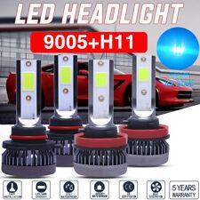 4x Mini 9005/HB3/9145+H11 LED Headlight Kit 56000LM Hi/Low Beam Fog Bulbs 8000K