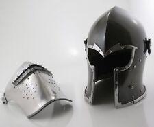 Medieval Barbute Helmet Armour Visor Viking Roman Knight With Free Cotton Cap