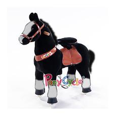 PonyCycle Medium Black & White Non-Electric Kid Powered Ride On Toy Horse