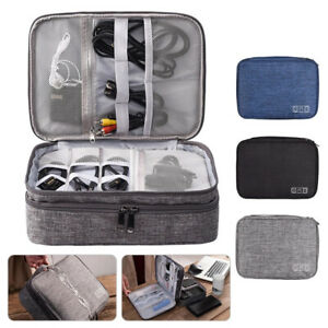 Electronic Accessories Organiser Cable Charger Travel Bag Hard Drive Carry Case