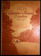 1950 Atlas Queens Nassau County Ownership Of Lands Subways Transport Lines +