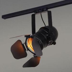 Vintage Track Light Loft Industrial Spotlights Rail lamp for home store stage