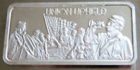 "1975 ""UNION UPHELD"" .999 FINE SILVER PROOF ART BAR CIVIL WAR 1 TROY OZ HAMILTON"