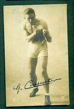 BOXING,G CARPENTIER INK SIGNED,vintage postcard