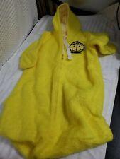 Vintage 1960s 1970s Baby Bunting Bag Yellow Fuzzy Clock Smiley 1 pc Sleep Bag