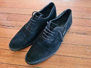 Versace Mens Suede Black Shoes US 12 EU 45 $1600 new