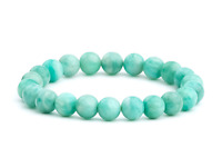 Mozambique Amazonite Natural Gemstone Bracelet 6-9'' Elasticated Healing Stone