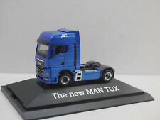 1:87 Herpa 940955 The new MAN TGX 2020 blau in PC Vitrine neu