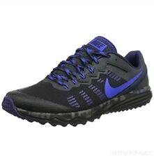 Nike Dual Fusion Trail 2 New Mens Black Blue Running Shoes 819146 004  Size 9